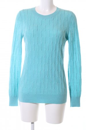 Banana Republic Cable Sweater turquoise cable stitch casual look