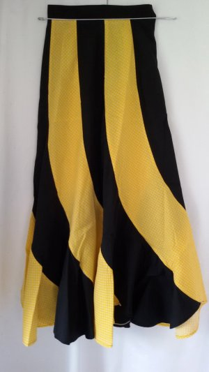 High Waist Skirt yellow-black cotton
