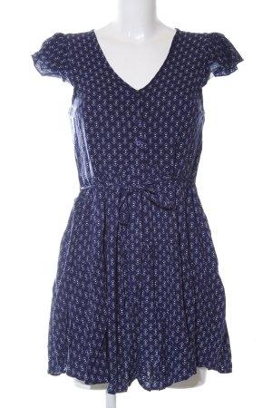Band of Gypsies A-Linien Kleid blau-wollweiß abstraktes Muster Casual-Look