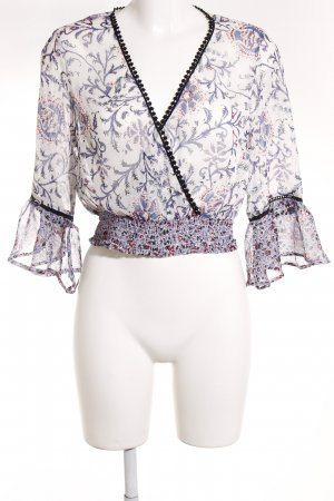 Band of Gypsies Blouse met lange mouwen abstracte print Boho uitstraling