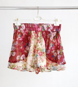 Band of Gypsies Skorts raspberry-red-cream polyester