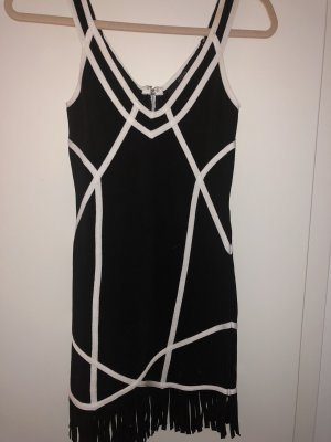 Guess Mini vestido negro-blanco