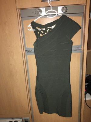 Marciano Vestido de noche gris verdoso-caqui