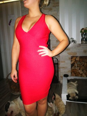 Bandage Kleid misguided S/M rot