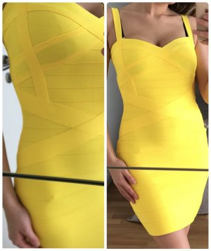 Bandeau Dress neon yellow