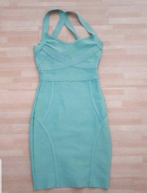 Amazone Vestido bandeau turquesa