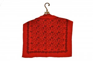 Pañoleta negro-rojo ladrillo Algodón