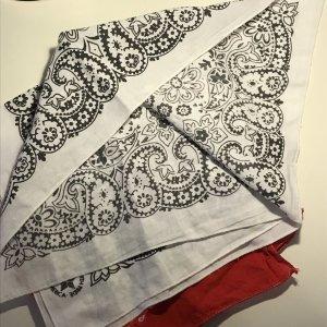 Vintage Foulard bianco-nero