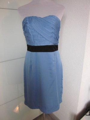 Bandau Corsagen Kleid Blau Neu Gr 42