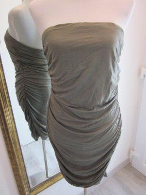 Bandau Strech Kleid Oliv Gr L #Melrose