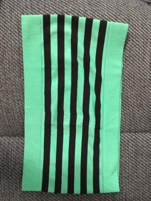 C&A Top a fascia nero-verde neon