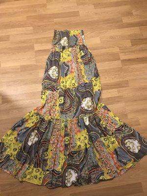 Amisu Vestido bandeau multicolor