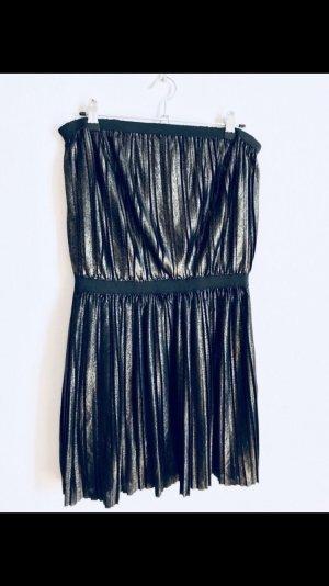 Robe bandeau doré-noir