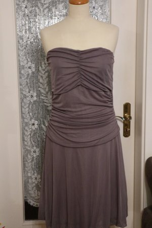 Bandeau Kleid - Cocktail Kleid - Partykleid - Gr. F 44 D 42 - grau