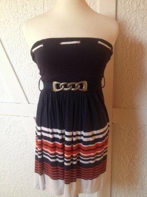 Bandeau-Kleid im Marinelook