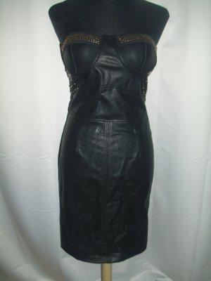 Bandeau Kleid in schwarz Größe S/M aus Lederimitat ungetragen