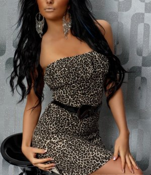 Bandeau Kleid Leopardenmuster Kleid modern Boho Style Trends