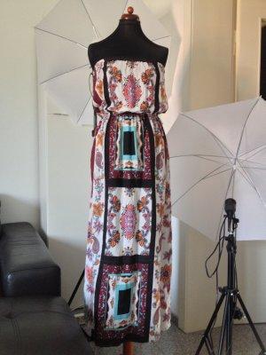 Bandeau Kleid Maxikleid Atmosphere ungetragen 36 38 Hippie Dress