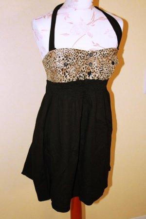 Bandeau-Kleid mit Leo Optik Rockabilly