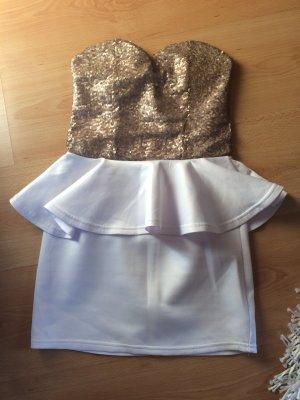Bandeau-Kleid mit Pailetten