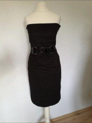 Bandeau Kleid Pencilkleid Business Minikleid Schulterfrei