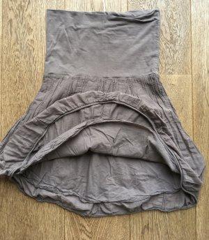 Robe bandeau gris brun-marron clair tissu mixte