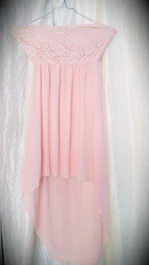 Bandeau Kleid rosé