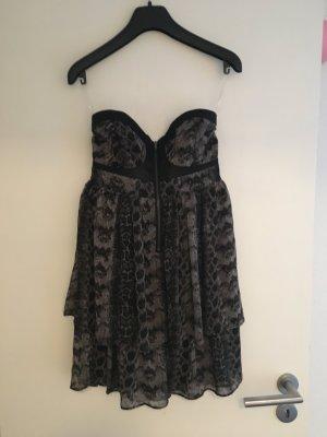 Bandeau Kleid Schlangenoptik