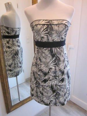 Bandeau Kleid schwarz weiss Gr 38