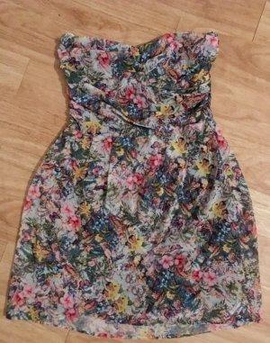 Bandeau Kleid Sommerkleid Mango Gr.M! Blumenmuster ärmellos