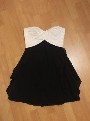 Bandeau Kleid von asos schwarz weiß gr 36 top
