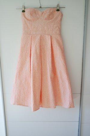 Robe bandeau rose polyester