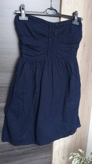 Zara Trafaluc Bandeau Dress dark blue