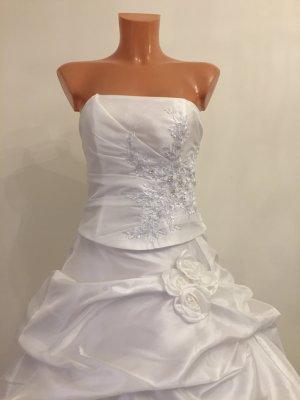 Bandeau Korsagen Brautkleid Hochzeitskleid Gr. 34-38 Weis