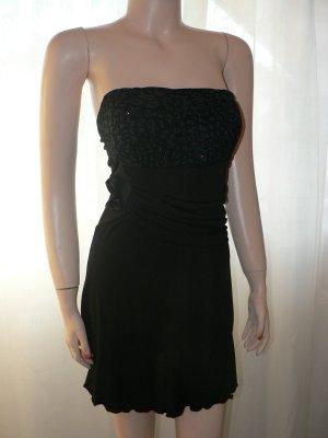 Bandeau-Longtop oder Mini-Kleid schwarz NEU