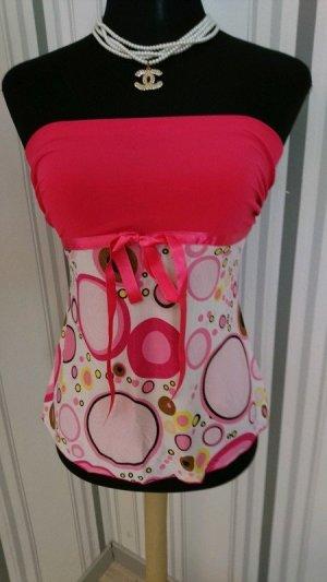 Bandeau top roze Gemengd weefsel