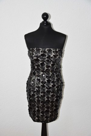 Bandeau Pailletten Kleid