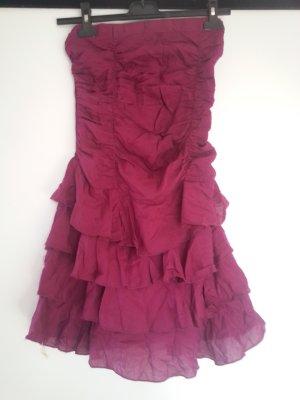 mister*lady Robe bandeau rouge framboise-violet