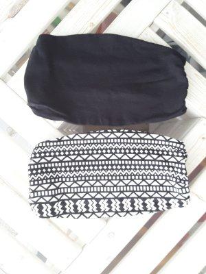 Rainbow Top a fascia nero-bianco Cotone