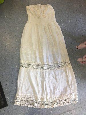 Vestido bandeau blanco