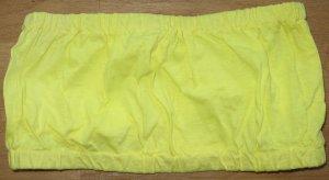 Haut bandeau jaune fluo coton