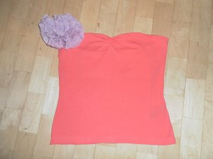 Bandeau Top in Koralle / H&M Divided