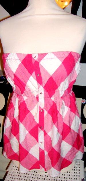 Bandeau Top Karo Pink