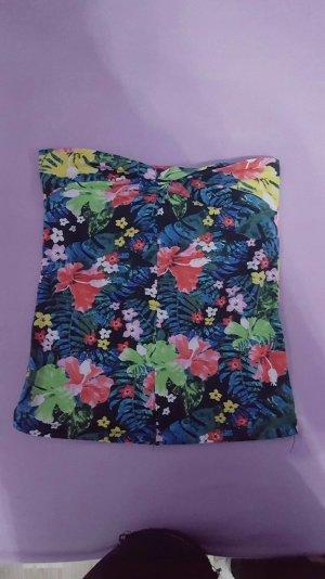 Bandeau Top mit Blumenaufdruck