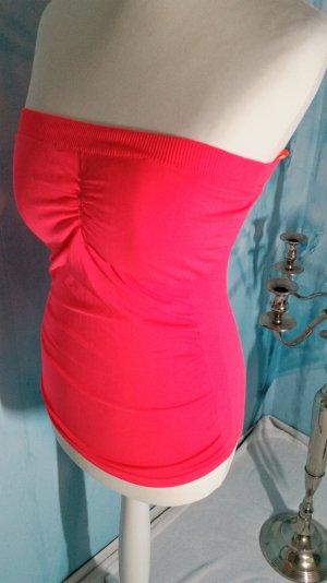 Bandeau Top mit integrierten Brust Polster S-M Pink Neu