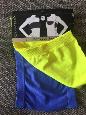Bandeau Top Set ( gelb & blau) NEU & OVP