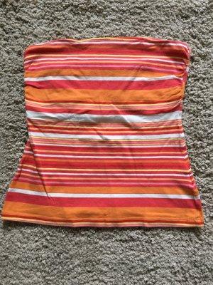 Bandeau Top, Tubetop H&M orange rot weiß gestreift