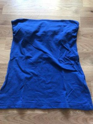 H&M Haut bandeau bleu-bleu acier