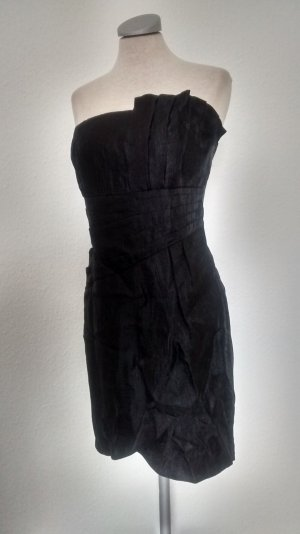 Bandeaukleid Bandeau Kleid schwarz Gr. 40 Cocktailkleid