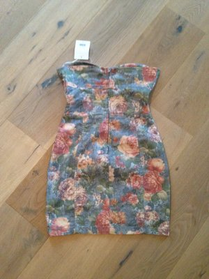 Bandeaukleid Blumendesign